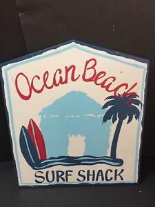 Pottery Barn Kids OCEAN BEACH Surf Vibe Shack PLAQUE Surfboard Art Wall Bryce