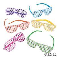 12 KIDS NEON Glow in the Dark Shutter Glasses SunGlasses BIRTHDAY Party Favor