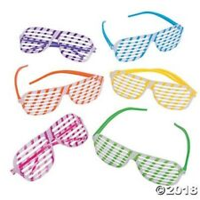 12 KIDS Glow in the Dark Shutter Shading Glasses SunGlasses BIRTHDAY Party Favor