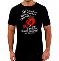Soft Deadpool Little Ball Of Vengence T-Shirt - Unisex Men's Comedy T-Shirt