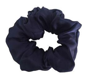 New 100% pure silk hair scrunchie soft hair accessories free shipping dark blue
