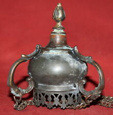 Antique Hand Made Bronze Icon Lamp Candle Holder