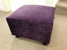 Footstool / Small Box Stool / Pouffe / Gift / purple Velvet British Made