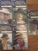 5x AGATHA CHRISTIE MISS MARPLE VHS VIDEO BUNDLE-BBC DRAMA Nemesis,A Pocketful Of