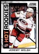 2012-13 Score Hot Rookies Jeremy Welsh #539