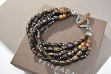 Silpada Sterling Silver & Brown  Palm Wood Bracelet B1326 Retired!