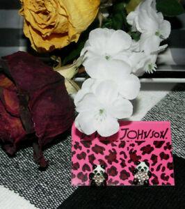 Betsey Johnson ~ Fashion Jewelry ~ Baby Panda ~ Post Drop Earrings ~New ~BN #36
