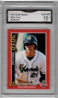 Mike Trout Rc 2010 MINOR LEAGUE Kernels  #2 Rookie CARD GMA GEM MINT graded 10