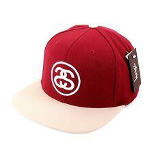STÜSSY ss-link Casquette Snapback Bonnet Unisexe Taille Unique, couleur rouge /