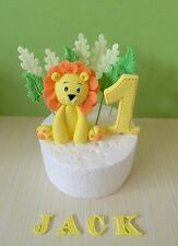 edible lion Cake topper Number Name Leaves For jungle theme lion king birthday