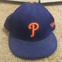 New Era 59Fifty Cap MLB Philadelphia Phillies Mens  Blue Fitted hat 7 5/8