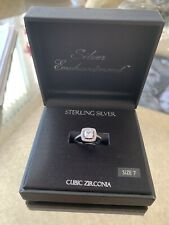 Cubic Zirconia Size 7 Engagement Ring Sterling Silver Enchantment