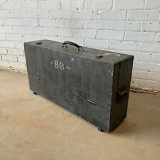 More details for vintage painted carpenters toolbox with internal drawer