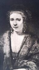Rembrandt Heliogravure  France 1800,s 9x12  the mother 2