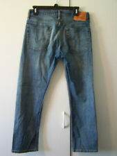 MENS 513 LEVIS BLUE DENIM MEDIUM WASH COTTON STRETCH JEANS 30X30 ACTUAL 32X28