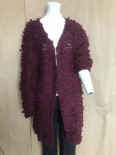 Women's Glamorous Long Sleeve Lopped Cardigan Ladies Size Medium Long Cardigan