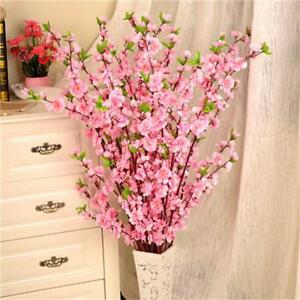 Peach Blossoms Artificial Flowers Simulation Home Events Lovely Decorations 65cm