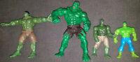 Lot of 4 Marvel Incredible Hulk Action Figures Hulk Smash Clap Vintage Toys