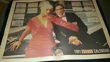Blondie And Iggy Pop Rare 1991 U.K. Promo Calendar Poster Framed!