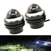 Pair Xenon White 5W CREE High Power Bull Eye LED DRL Projector Daytime Fog Light