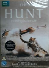 THE HUNT (3-DISC BBC DVD SET, 2015) NARRATED BY DAVID ATTENBOROUGH *NEW/SEALED*