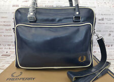 FRED PERRY Classic HOLDALL Bag L5252 Navy Weekend Shoulder Pvc Carry Bags BNWT
