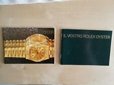ROLEX BOOKLET YOUR ROLEX OYSTER RARE LIKE NEW VARIOUS YEARS FOR SALE ORIGINAL