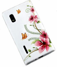 Design no. 5 Silicone TPU Cover Case Cellulare CAPPUCCIO PER LG e610 Optimus l5