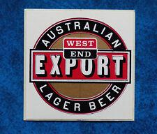 WEST END EXPORT ..  Original Vintage  1980,s  Pub  Beer Fridge sticker