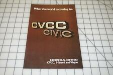 HONDA CIVIC 1976 CVCC 5-SPEED WAGON AUTO LITERATURE SALES BROCHURE