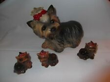 Goebel Figuren Hund (Yorkshire Terrier, 4 Figuren)