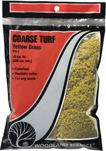 Woodland Scenics Model Railroad Landscape Coarse Turf Yellow Grass (Small Bag)
