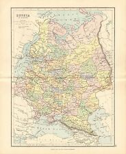 1887 ANTIQUE MAP- RUSSIA IN EUROPE