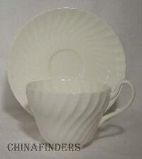 FOLEY china FOL3 White Swirled pattern Cup & Saucer