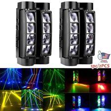 1/2PCS 80W RGBW 8LED Spider Moving Head Stage Lighting Beam DMX Disco Party DJ
