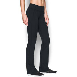 Under Armour UA Ladies Pants Black Mirror Sports Fitted Boot Cut Trousers