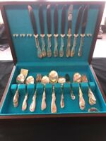 Vintage Set Of Rodgers & Bro Reinforced Plate Silver Plated Silverware Set IS