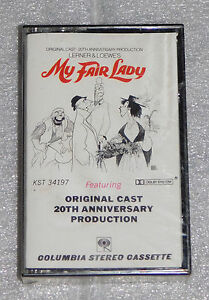 My Fair Lady 20th Anniverary Original Cast Cassette Tape 1976 CBS Columbia