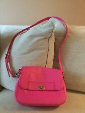 NWT Fossil Amanda Hot Pink Leather Flap Crossbody Shoulder Bag