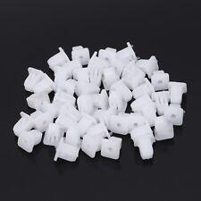 50 Pcs White Square Car Body Plastic Push Pin Rivet Fasteners Trim Moulding Clip