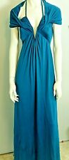 "NWT Max Mara Teal Blue ""Euforia"" Long Sleeveless Dress Size 6 MSRP $1235"