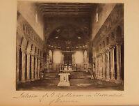San - Apollinaire IN Classe Ravenna Arte Bizantina Vintage Albumina Ca 1880