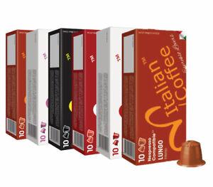 200 ITALIAN COFFEE capsules compatible w/ Nespresso, Espresso pods FREE SHIPPING