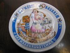 Rare Porcelain Plate Satire 1972 German Olympics MÜNCHEN MASSKRUG Beer Stein Mug
