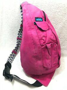 KAVU Sling Bag Crossbody Backpack PINK
