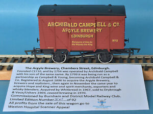 Dapol Archibald Campbell & Co Argyle Brewery Ventilated Van Nº 5 LE of 125 Boxed