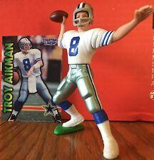 1999 Troy Aikman Starting Lineup Loose w/ football card Dallas Cowboys