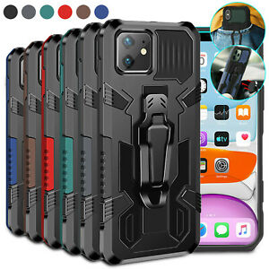 Shockproof Hybrid Armor Clip Case For iPhone 13 12 Pro Max 11 XS XR 8 7 Plus SE
