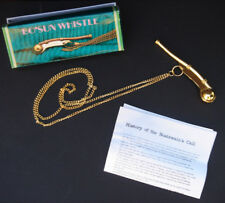 Brass Boatswain Pipe Bosun whistle Maritime Boatswain's Call Navy Boson pipes