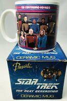 Star Trek Next Generation Enterprise  mug vintage 1992  THE CONTINUNG VOYAGES